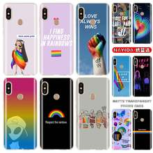 LGBTQ heart LGBT love is Love cover soft Case For Xiaomi Redmi 9a 8A 7A 6A 5plus Note 9 8 7 6 5 Pro Y3 9S 8T(China)
