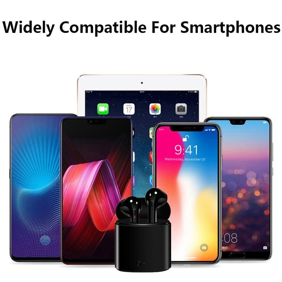 Беспроводные наушники i7s tws, Bluetooth 5,0, спортивные наушники-вкладыши, гарнитура с микрофоном и зарядным боксом, наушники для всех смартфонов 5