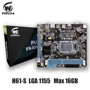 Image 5 - Оригинальная материнская плата VEINEDA, разъем LGA 1155 для настольного ПК с процессором Intel Core i3 i5 i7 DDR3, память 16 ГБ, материнская плата uATX H61 для ПК