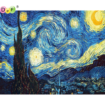 5D Starry sky round/square Cross Stitch DIY Diamond Painting Diamond Embroidery kits Diamond Mosaic home Decorative drill image