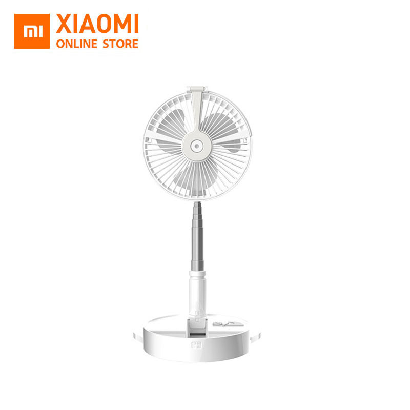Xiaomi Mi Multifunction Portable Mini Foldable Electric LED Fan Air Conditioner Cooler Summer Desk Table Fans USB Charging