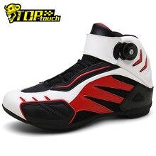 Yeni motosiklet botları erkekler nefes Botas Moto çizmeler Hombre motosiklet ayakkabı motosiklet Biker binici çizmeleri Touring ayak bileği ayakkabı