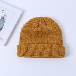 Skullcap Men's Winter Warm Beanie from Korean-style Street Versatile Knitted Wool Cap Outdoor Fashion Hat Women's