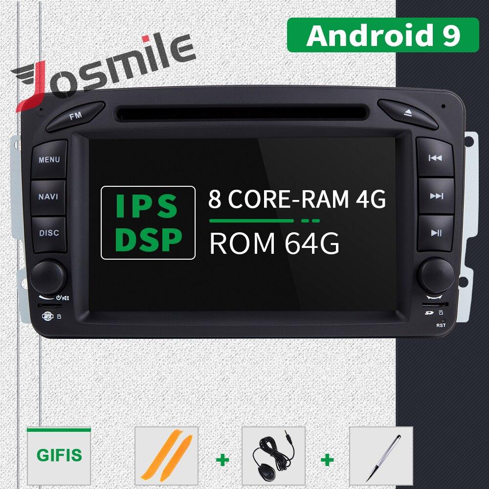 Ips dsp 4 gb ram 2din android 9 leitor de dvd do carro para mercedes benz clk w209 w203 w463 w208 multimeida gps rádio estéreo câmera de áudio - 3
