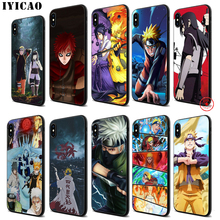 IYICAO Naruto Anime Soft Black Silicone Case for iPhone 11 Pro Xr Xs Max X or 10 8 7 6 6S Plus 5 5S SE iyicao sailor moon anime soft black silicone case for iphone 11 pro xr xs max x or 10 8 7 6 6s plus 5 5s se