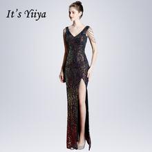 Женское вечернее платье на молнии it's yiiya зеленое без