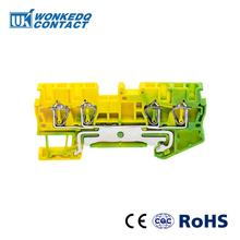 10Pcs ST-2.5QUATTRO-PE Instead of PHOENIX CONTACT Connectors Return Pull Type Four Conductor  Spring Ground Terminal Blocks