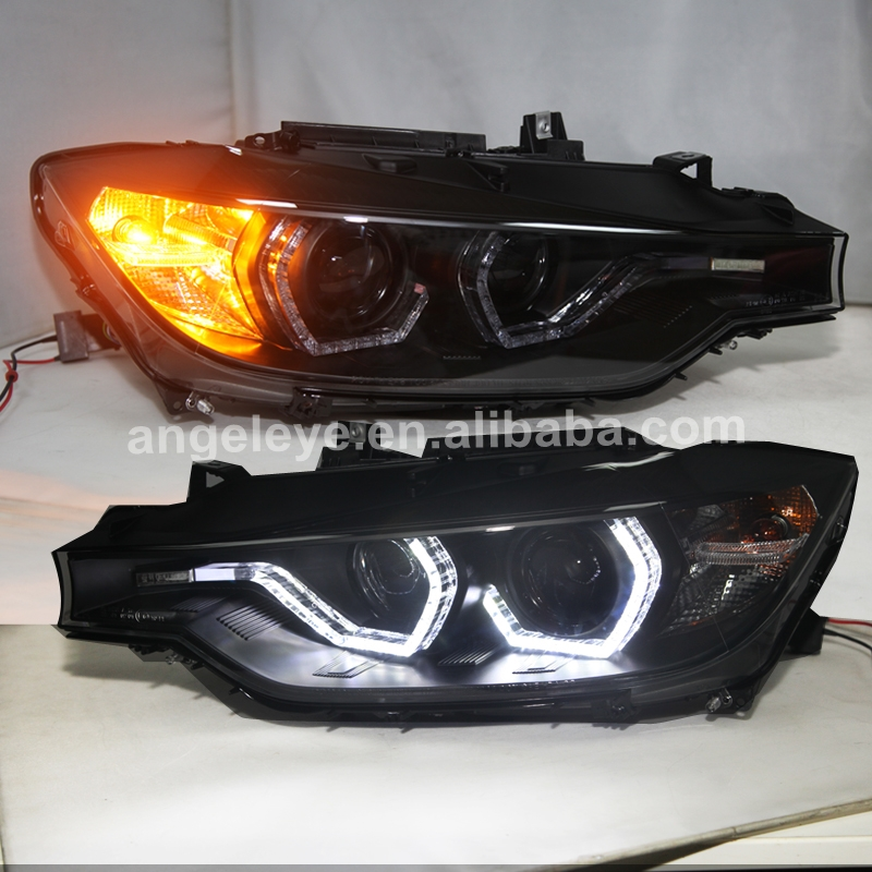 <font><b>LED</b></font> Angel Eyes <font><b>Headlight</b></font> For <font><b>BMW</b></font> <font><b>F30</b></font> F35 318 320 325 328 330 335 2013-2015 Year SN For Original car halogen types image