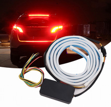 Car Rear LED Trunk Light Strip RGB Auto Turn Signal Flexible Tailgate Luggage Warnning Lamp White Red Blue Yellow