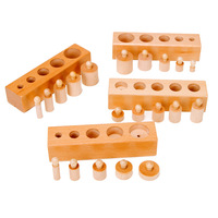 Children Over 2 Years Old Montessori Montessori Early Education Teaching Aids Socket Cylinder Kindergarten Puzzle Wooden Toys