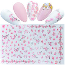 Stickers Decorations Flower Blossoms Butterfly Cherry Sakura Adhesive Nail-Art Beautiful