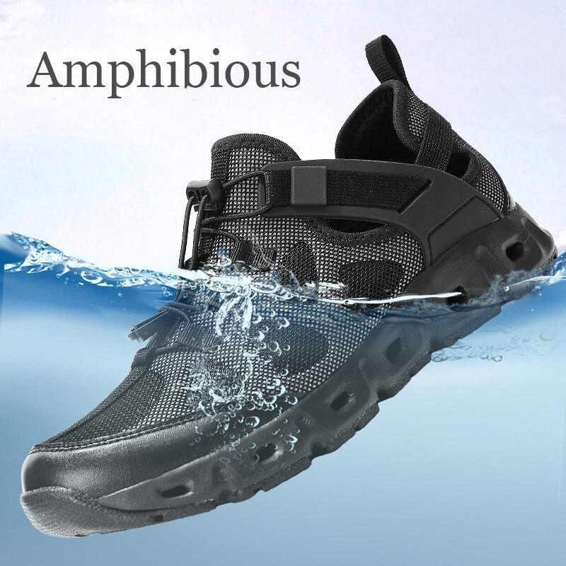 anfibio dos homens ao ar livre verao tatico agua aqua sapatos tenis para trilha caminhadas sapatos