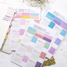 Fromthenon 2021 Kalender Tab Stickers 18 Maanden Maandelijkse Index Stickers Planner Notebook Schema Agenda Decoratieve Briefpapier(China)