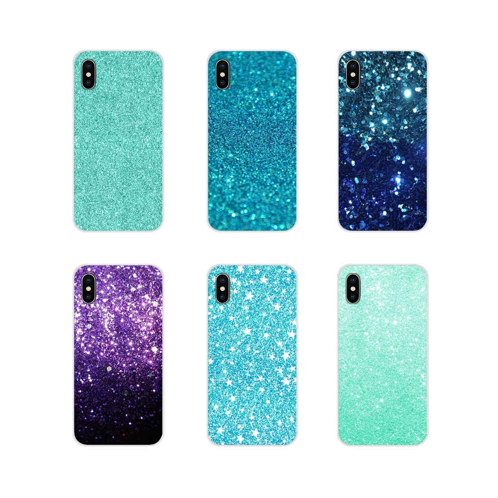Aqua Silver Green Mint Glitter Silicone Phone <font><b>Case</b></font> Cover For <font><b>Samsung</b></font> A10 A30 <font><b>A40</b></font> A50 A60 A70 M30 Galaxy Note 2 3 4 5 8 9 10 PLUS image
