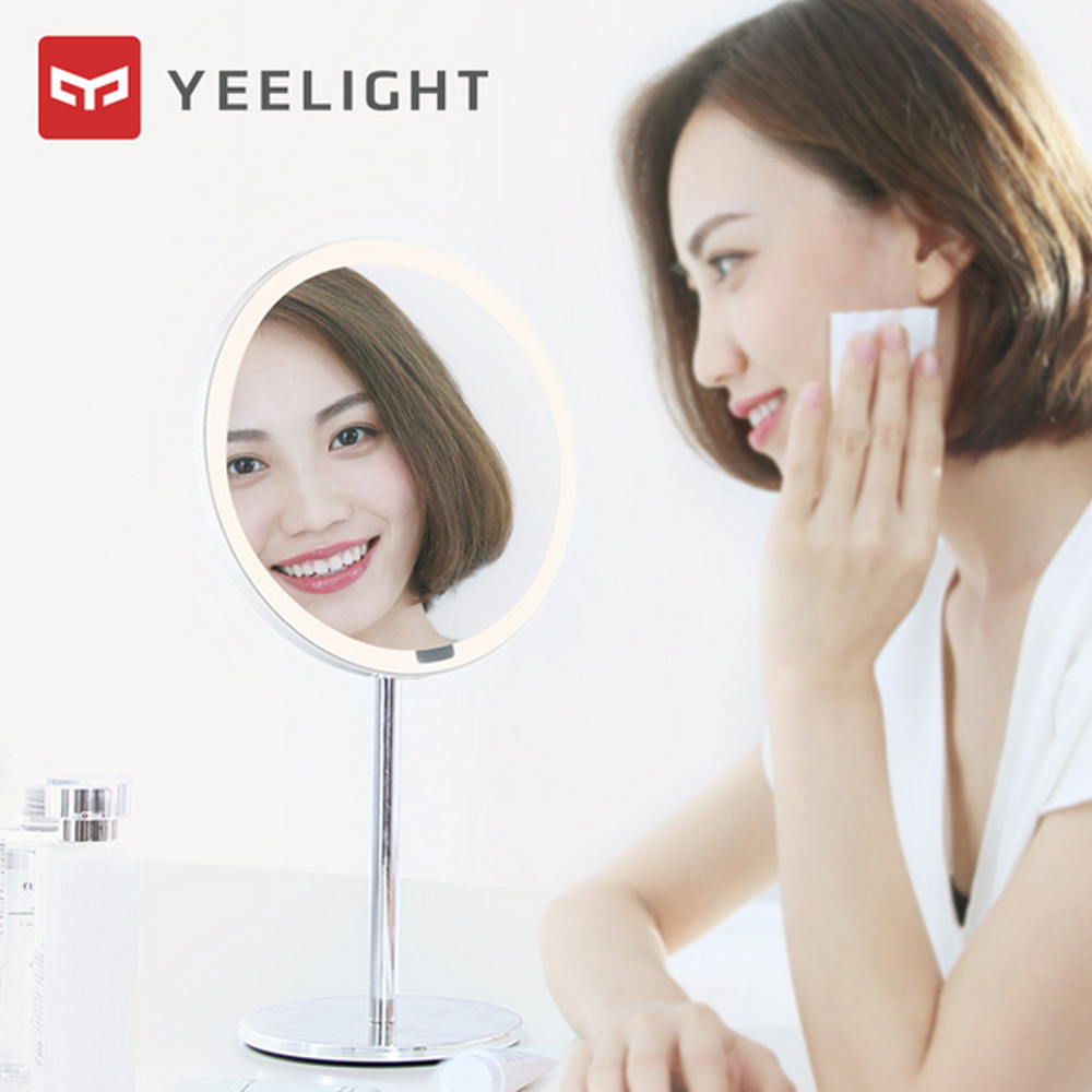 Image 2 - Yeelight LEDs Makeup Mirror Light Touching Control make up led vanity lights Night Light for Xiaomi Mirror With Light