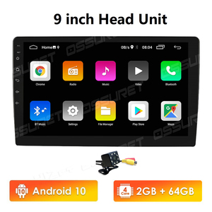 Image 1 - 9นิ้วเครื่องเล่นมัลติมีเดีย Quad Core 2Din สเตอริโอสำหรับ Android 10 Bluetooth GPS Navi วิทยุ2G + 64G Wifi 4G DAB + DVR OBD2 BT