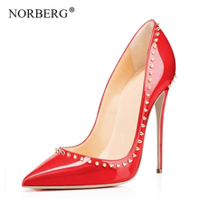 Fashion women high heels pumps rivet pointed dance shoes stiletto red wedding shoes summer shoes casual босоножки женские босоножки starting line shoes 180 2 2015