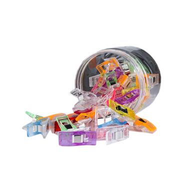 50 sztuk krawiectwo kołdra wiążące kolorowe plastikowe zaciski opakowanie do patchworku krawiectwo s Cardigan klip Pince Couture tanie i dobre opinie CN (pochodzenie) 27x15x15mm X-kształt