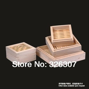 10cm 15cm 20cm 25cm Chinese Special Square Cedar Wooden Steamer Creative Package Bamboo Steamer Dumplings Cage Buns 10-25cm