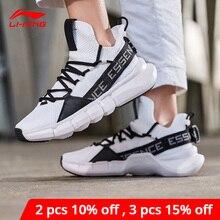 Li Ning Mannen Essentie Lace Up Basketbal Leisure Schoenen Mono Garen Meduim Cut Voering Li Ning Sportschoenen sneakers AGBP009 XYL250