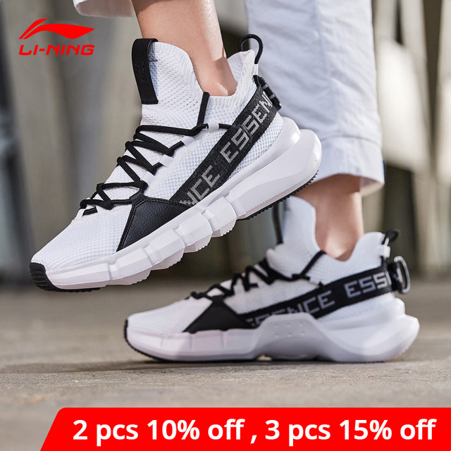 Li Ning Men ESSENCE LACE UP Basketball Leisure Shoes Mono Yarn Meduim Cut LiNing li ning Sport Shoes Sneakers AGBP009 XYL250