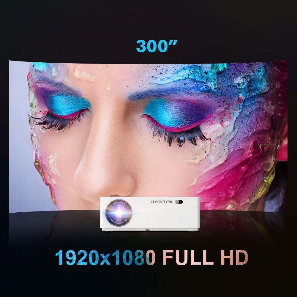Byintek Luna K20 1920*1080 Full Hd Astuto di Android Wifi di Sostegno AC3 300 Pollici a Led Video Proiettore con Usb per Home Theater Cinema - 2