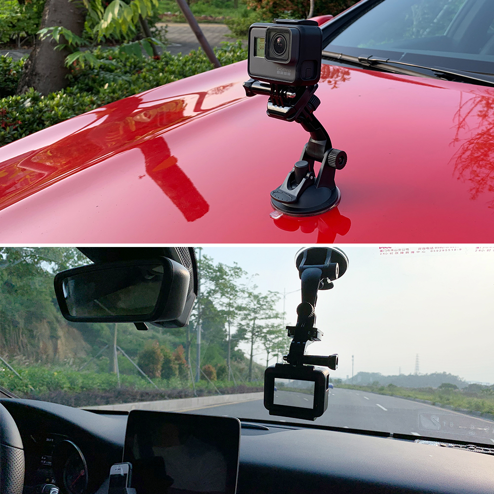 Vamson for Go Pro 8 9 Accessories 7cm Car Mount Windshield Suction Cup for Gopro Hero 9 8 7 6 5 4 for SJCAM for Yi 4K VP520 5