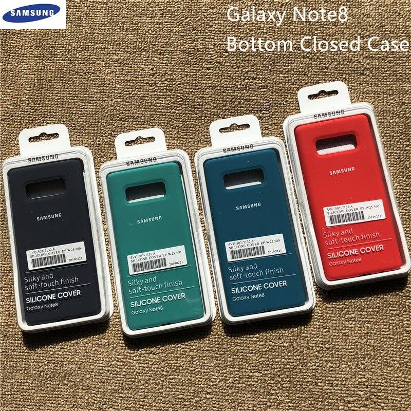 Оригинальный мягкий силиконовый чехол для Samsung Galaxy Note 8 N950 N950F N9500, шелковистая Защитная жидкая оболочка для Galaxy Note8