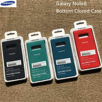 Original Samsung Galaxy Note 8 N950 N950F N9500 Soft Silicone Case Silky Touch Protective Liquid Shell Cover For Galaxy Note8