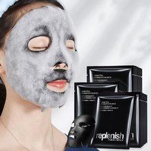 1 adet kömür kabarcık siyah derin deniz tuzu maskesi küçülen gözenekler nemlendirici temizlik maskesi derin arındırıcı siyah O2 kabarcık maskesi