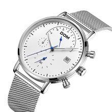 Часы dom мужские наручные кварцевые с хронографом модные водонепроницаемые