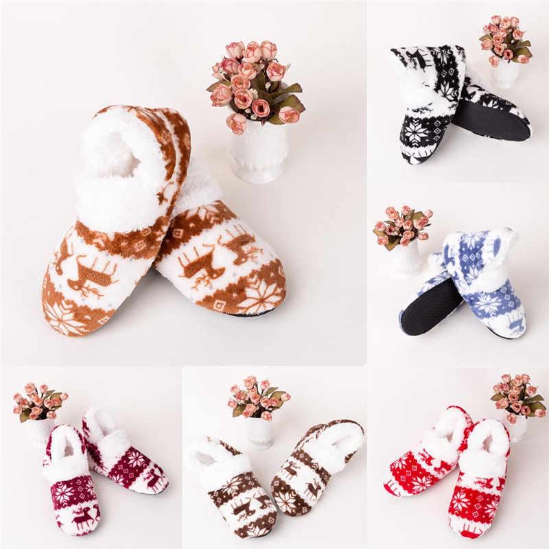 Helisopus 2020 חדש אופנה נשים החורף חם גרבי בנות שינה רצפת גרב חג המולד מתנה למבוגרים החלקה תרמית גרביים נעלי בית