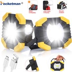 150W Led Tragbare Scheinwerfer 8000lm Super Helle Led Arbeit Licht Wiederaufladbare für Outdoor Camping Lampe Led Taschenlampe