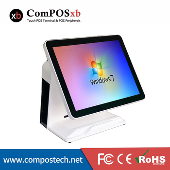 Windows Pos All In One 15 Inch POS Terminal Capacitive touch Cash register For retail