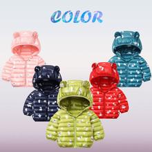 Jesienne zimowe kurtki dla dziewczynek maluch dziewczynek zimowe kreskówki płaszcz wiatroszczelny z kapturem ciepła odzież wierzchnia kurtka odzież wierzchnia ubrania tanie tanio Unisex Moda W wieku 0-6m 7-12m 13-24m 25-36m 3-6y CN (pochodzenie) none COTTON REGULAR Pasuje prawda na wymiar weź swój normalny rozmiar