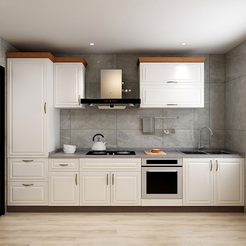 White Kitchen Cabinet Pvc Plastic Moulded Door Kitchen Cabinets Aliexpress