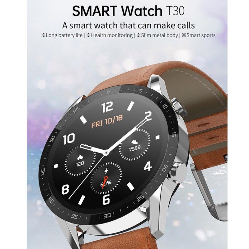 T30 montre intelligente hommes Bluetooth appel Fitness fréquence cardiaque pression artérielle moniteur d'oxygène IP67 étanche Sport Smartwatch PK L13 L7
