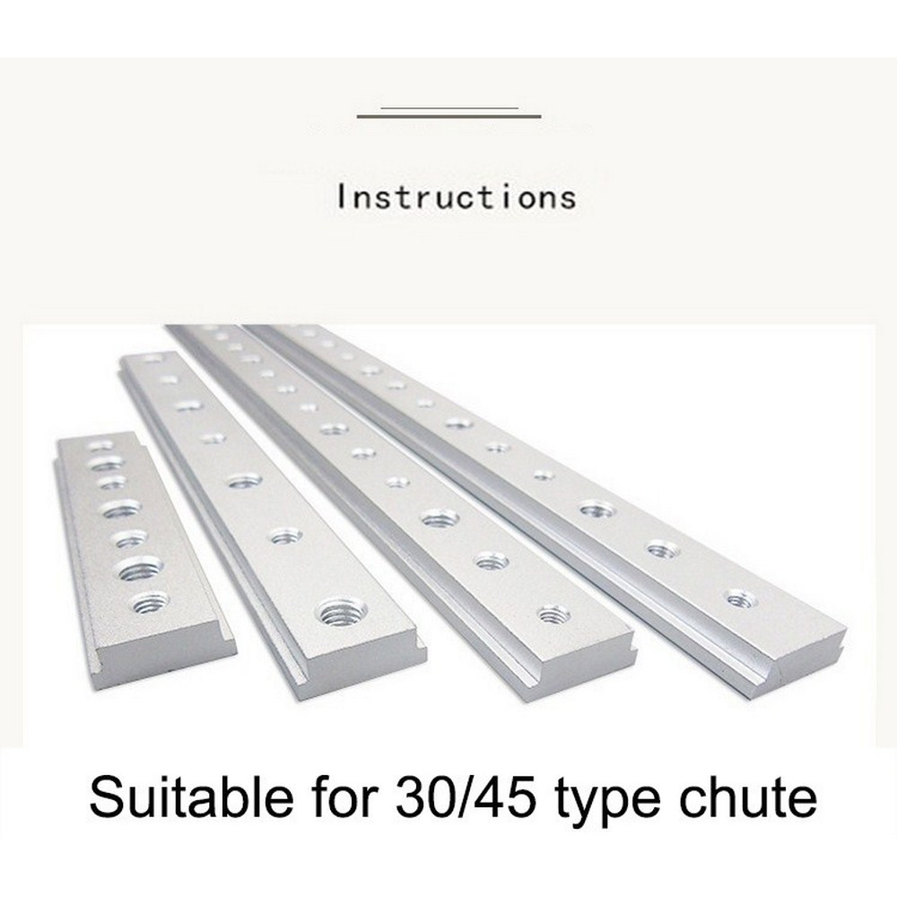 T-track Slider T Slot Sliding Nut Aluminum Alloy Nut Jigs Screw Slot Fastener 100MM/200MM /300MM /400MM Woodworking Tools