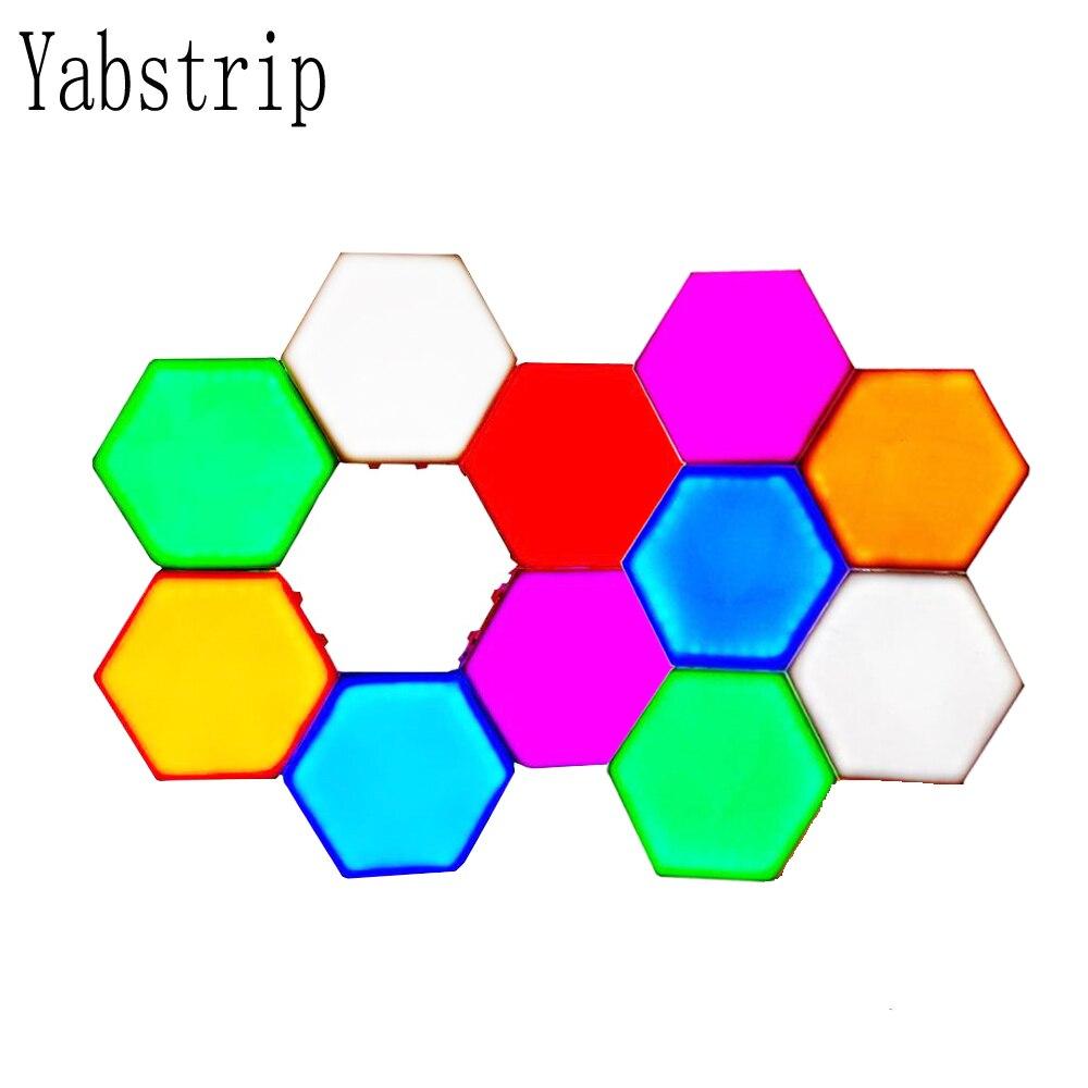 10 pièces coloré LED lampe quantique tactile sensible capteur nuit lampe ED magnétique lumières changement de couleur applique veilleuse