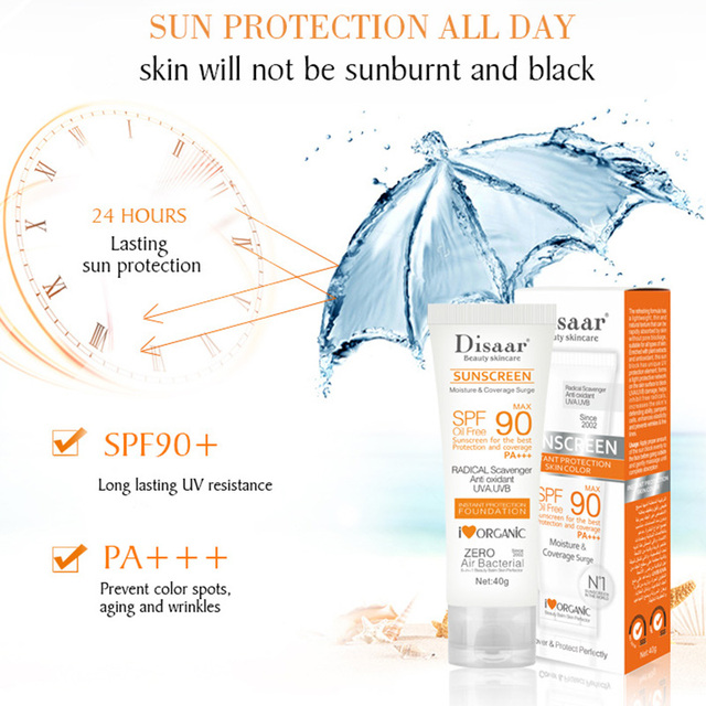 Facial Body Sunscreen Whitening Sun Cream Sunblock Skin Protective Cream Anti-Aging Oil-control Moisturizing SPF90 Face 3