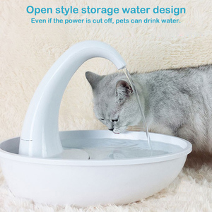 Automatic Swan Shaped Pet Cat Dog Water Dispenser Feeding Water Flowing Fountain Cat Drinking Bowl Electric Water Dispenser(China)