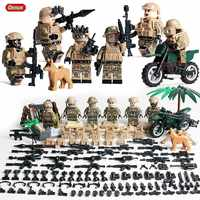 Oenux 2019 Mini Russian ALPHA Force Figures Military Building Block Russian Army Soldiers Legoings Brick MOC Toy Kids Xmas Gift