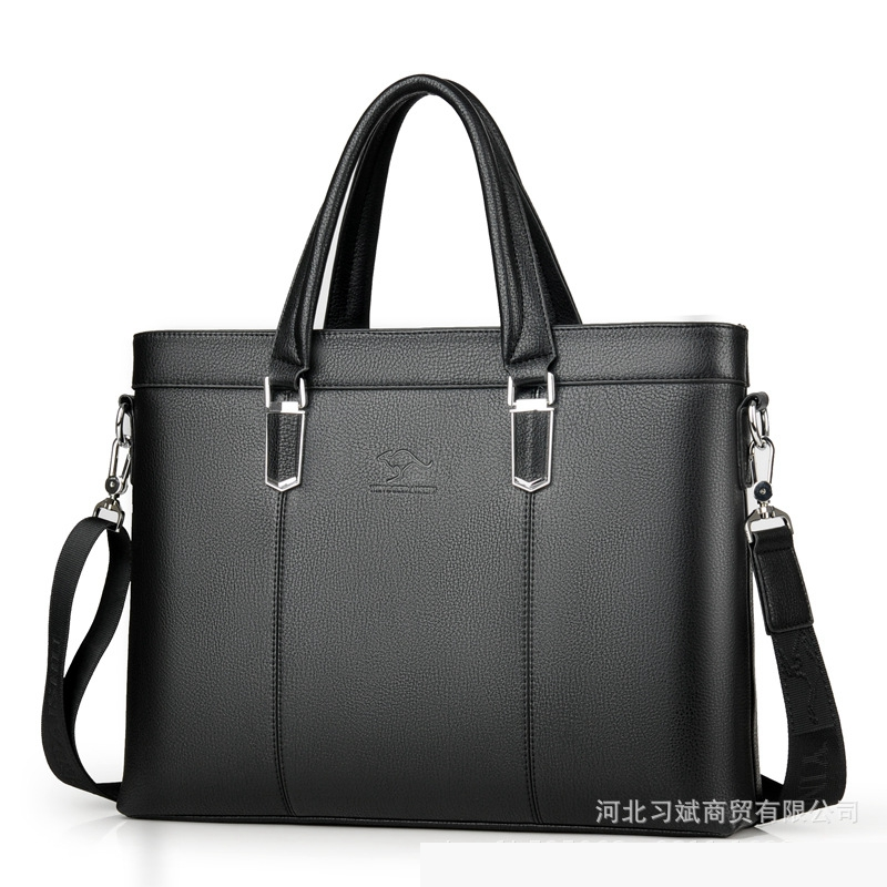 Business Men's Briefcases Bag Soft Leather Messenger Bag For Male Shoulder Bag Casual Crossbody Bag For 2019 LSH736