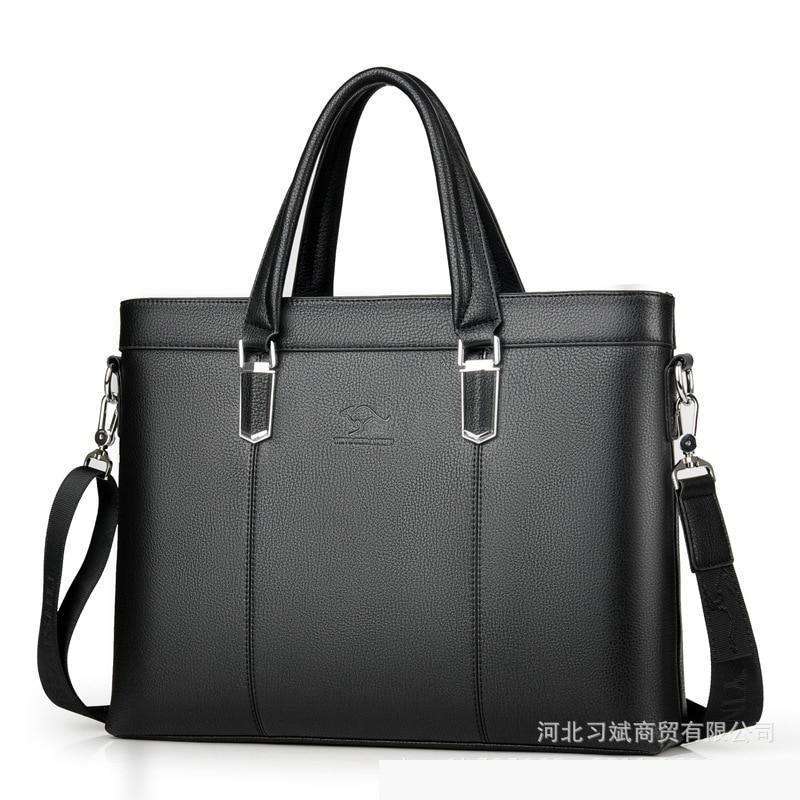 Business Men's Briefcases Bag Soft Leather Messenger Bag For Male Shoulder Bag Casual Crossbody Bag For 2019 LSH736