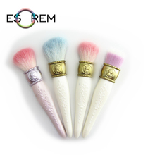 ESOREM Exquisite Enchased Makeup Brushes Head Sculpture Tube Foundation Brush Larger Powder Small Contour Pinceles Maquillaje