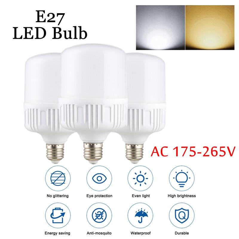 E27 LED Bulbs Energy Saving 5W10W15W20W30W40W60W High Power AC220-240V Lampadas
