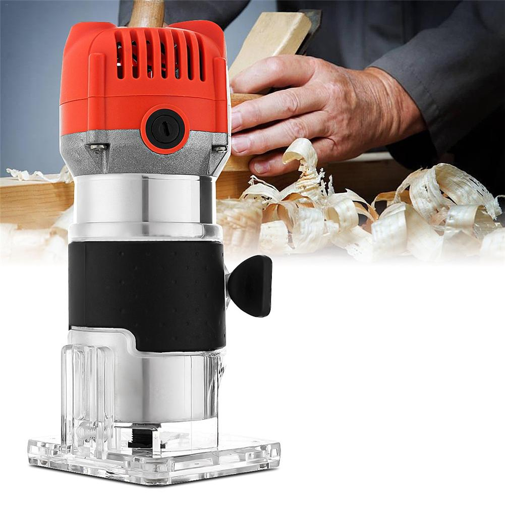 All Copper Motor Woodworking Electric Edge Trimmer Engraving Machine Wood Laminate Palm Router Electric Hand Trimmer Router