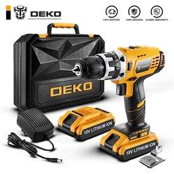DEKO GCD18DU2 Электрическая отвертка аккумуляторная дрель Беспроводной Мощность Драйвер 18 вольт постоянного тока литий-ионный Батарея 1/2-дюймов ...