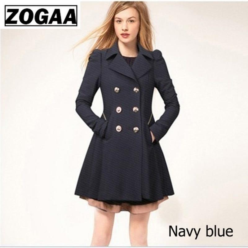 ZOGAA 2019 new women   trench   coat Autumn Women Double breasted Warm Windbreaker Causal Long ladies   trench   coat female Plus Size