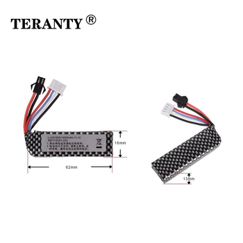 TERANTY 3s Water Gun Lipo Battery Pack 3S 11.1V 1800mAh 25C 401855 for AKKU Mini Airsoft BB Air Pistol Electric Toys RC Parts image